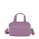 Paula Debossed Convertible Satchel Handbag Grapeade Purple Front [Grapeade Purple]
