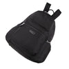 Cameron Debossed City Backpack Black Lying Down [Black]