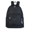 Cameron Debossed City Backpack Black Front [Black]