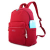 Cameron Debossed City Backpack Fiery Red Angled [Fiery Red]
