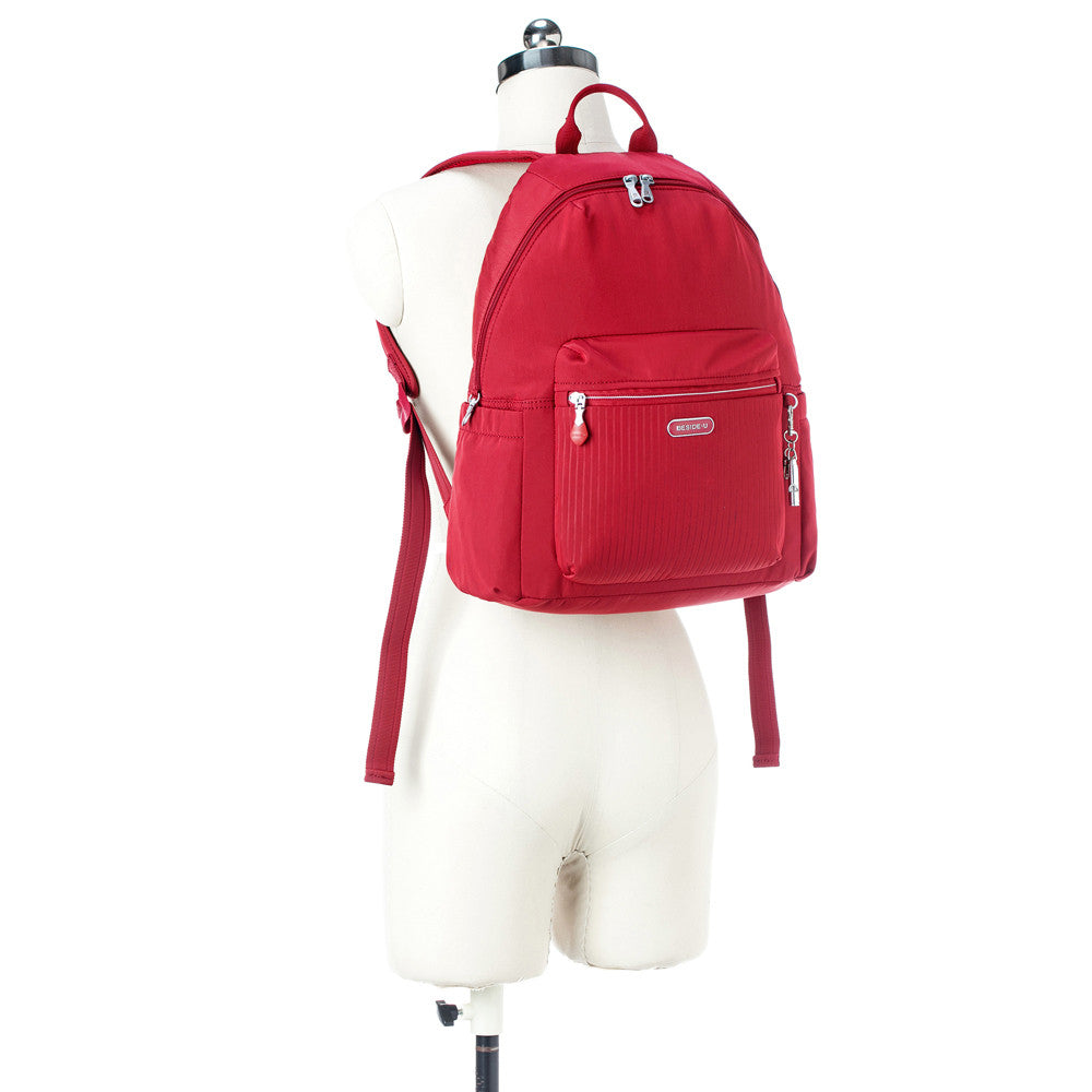 Cameron Debossed City Backpack Fiery Red Mannequin [Fiery Red]