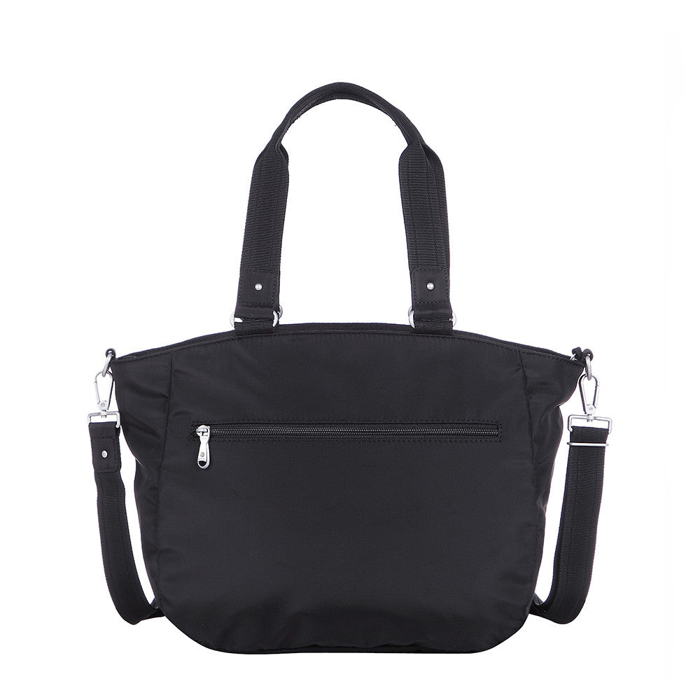 Tote Bag - Kamala Debossed Convertible Tote Bag Black Back [Black]