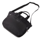 Tote Bag - Kamala Debossed Convertible Tote Bag Black Lying Down [Black]