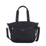Tote Bag - Kamala Debossed Convertible Tote Bag Black Front [Black]