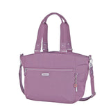 Tote Bag - Kamala Debossed Convertible Tote Bag Grapeade Purple Angled [Grapeade Purple]