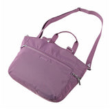 Tote Bag - Kamala Debossed Convertible Tote Bag Grapeade Purple Lying Down [Grapeade Purple]