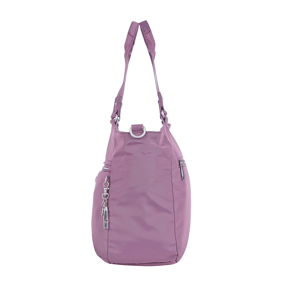 Tote Bag - Kamala Debossed Convertible Tote Bag Grapeade Purple Side [Grapeade Purple]