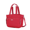 Tote Bag - Kamala Debossed Convertible Tote Bag Fiery Red Angled [Fiery Red]