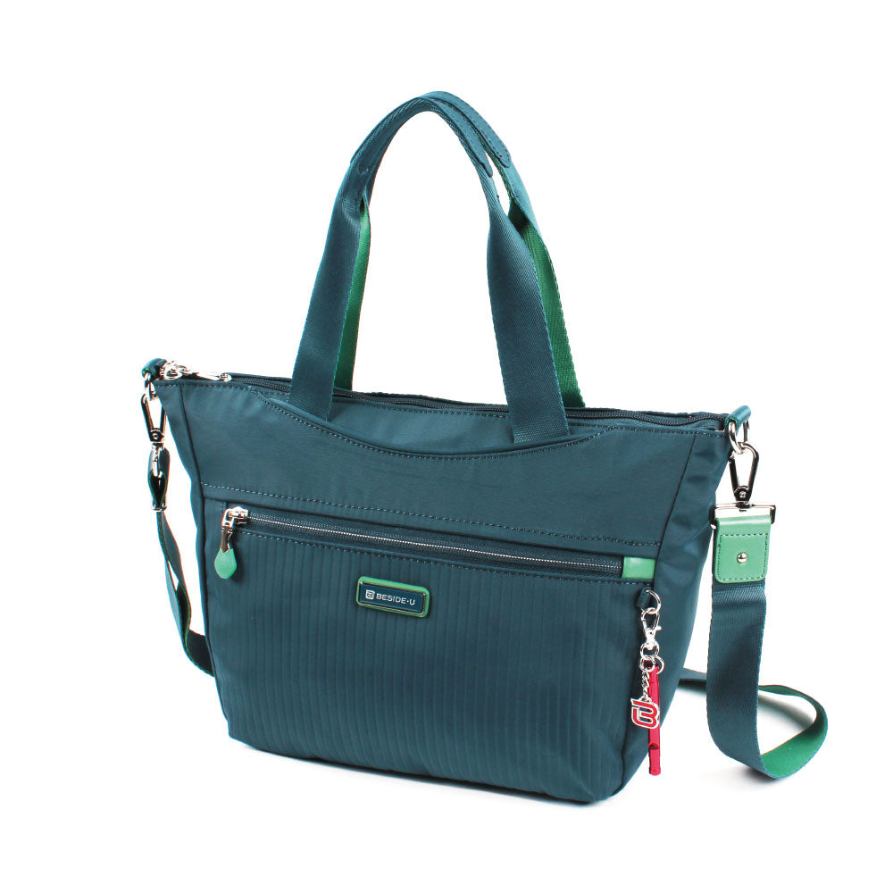 Satchel Handbag - Ellie Two Ways Handbag Angled [Orion Blue]