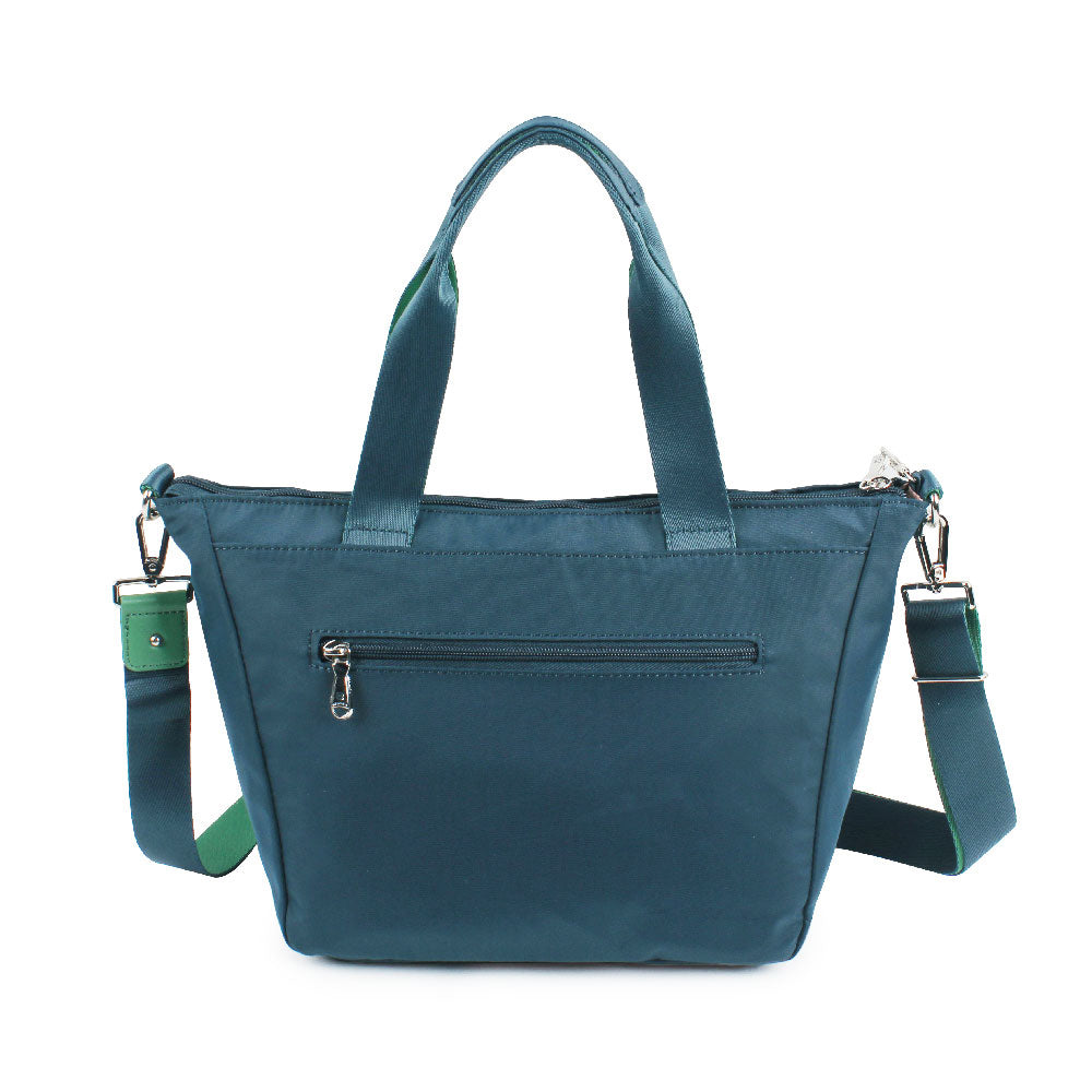 Satchel Handbag - Ellie Two Ways Handbag Back [Orion Blue]