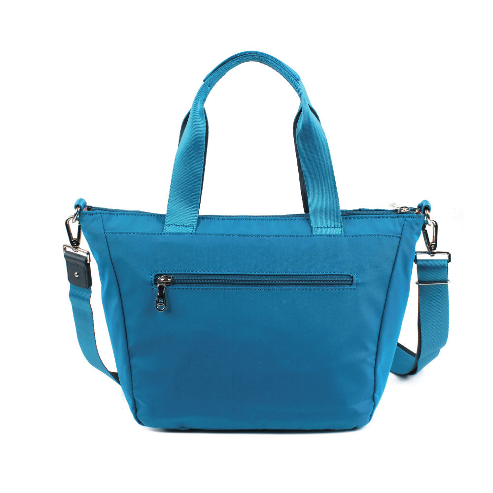 Satchel Handbag - Ellie Two Ways Handbag Back [Joyful Blue]