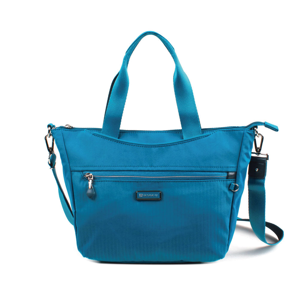 Satchel Handbag - Ellie Two Ways Handbag Front [Joyful Blue]