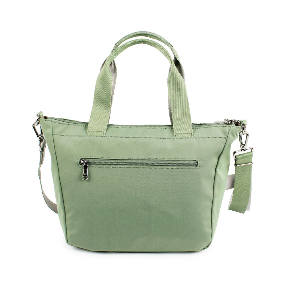 Satchel Handbag - Ellie Two Ways Handbag Back [Luminary Green]