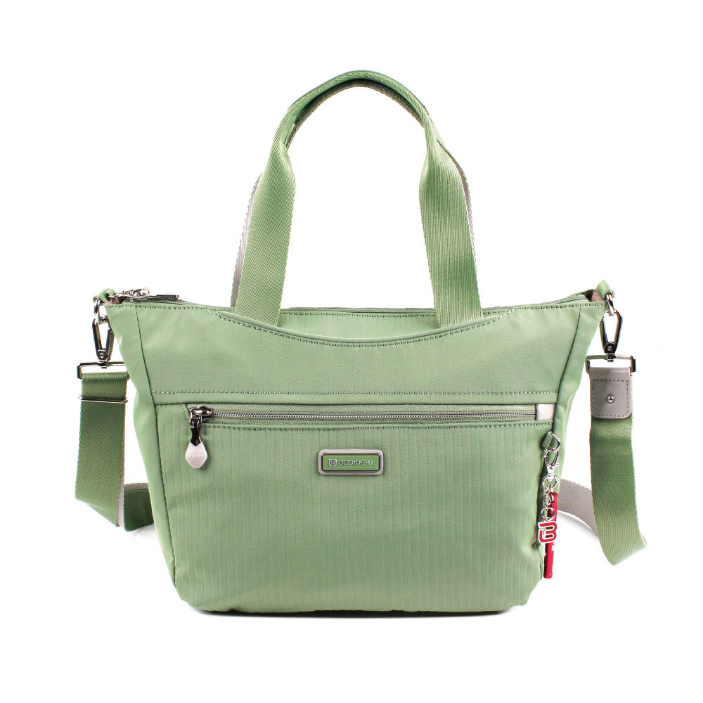 Satchel Handbag - Ellie Two Ways Handbag Front [Luminary Green]