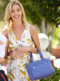 Satchel Handbag - Riley Satchel Bag Model Marine Blue