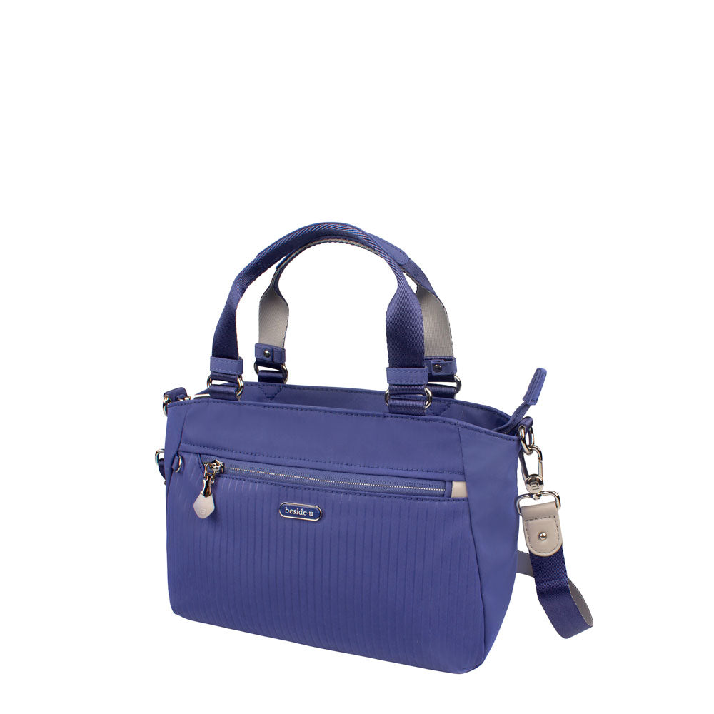 Satchel Handbag - Riley Satchel Bag Angled [Marine Blue]
