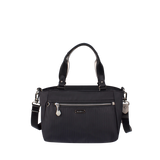 Satchel Handbag - Riley Satchel Bag Front Black