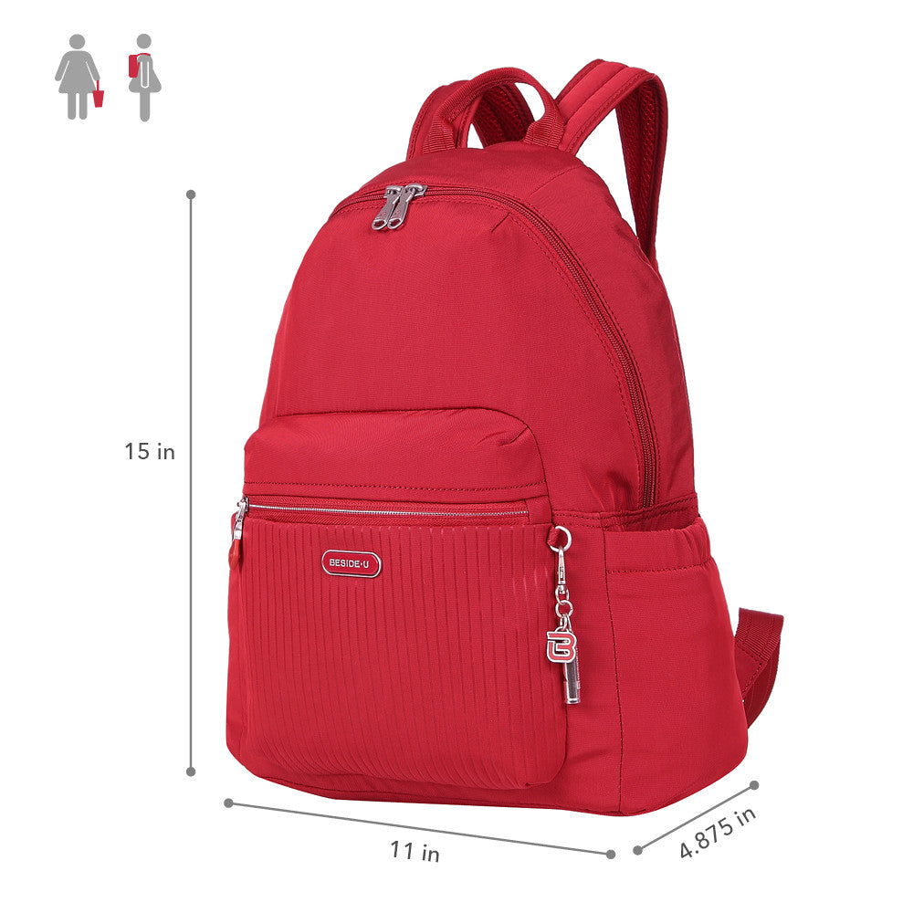 Cameron Debossed City Backpack Fiery Red Size