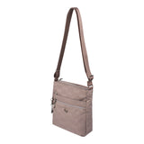 Crossbody Bag - Mila Crossbody Bag Angled [Brown Logo]