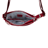 Crossbody Bag - Hollyridge Crossbody Bag Inside Ruby Red