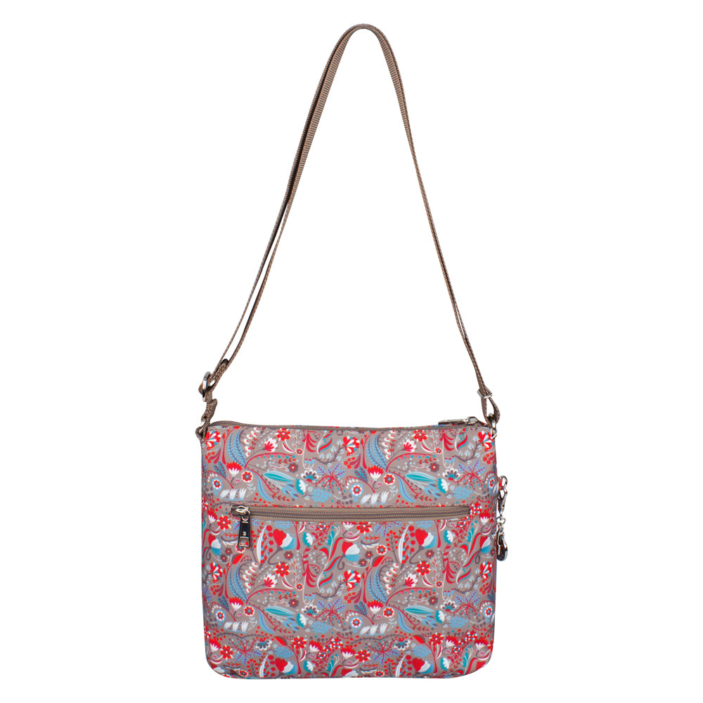 Crossbody Bag - Tasmin Printed Crossbody Bag Front Beige Stylish Abstract