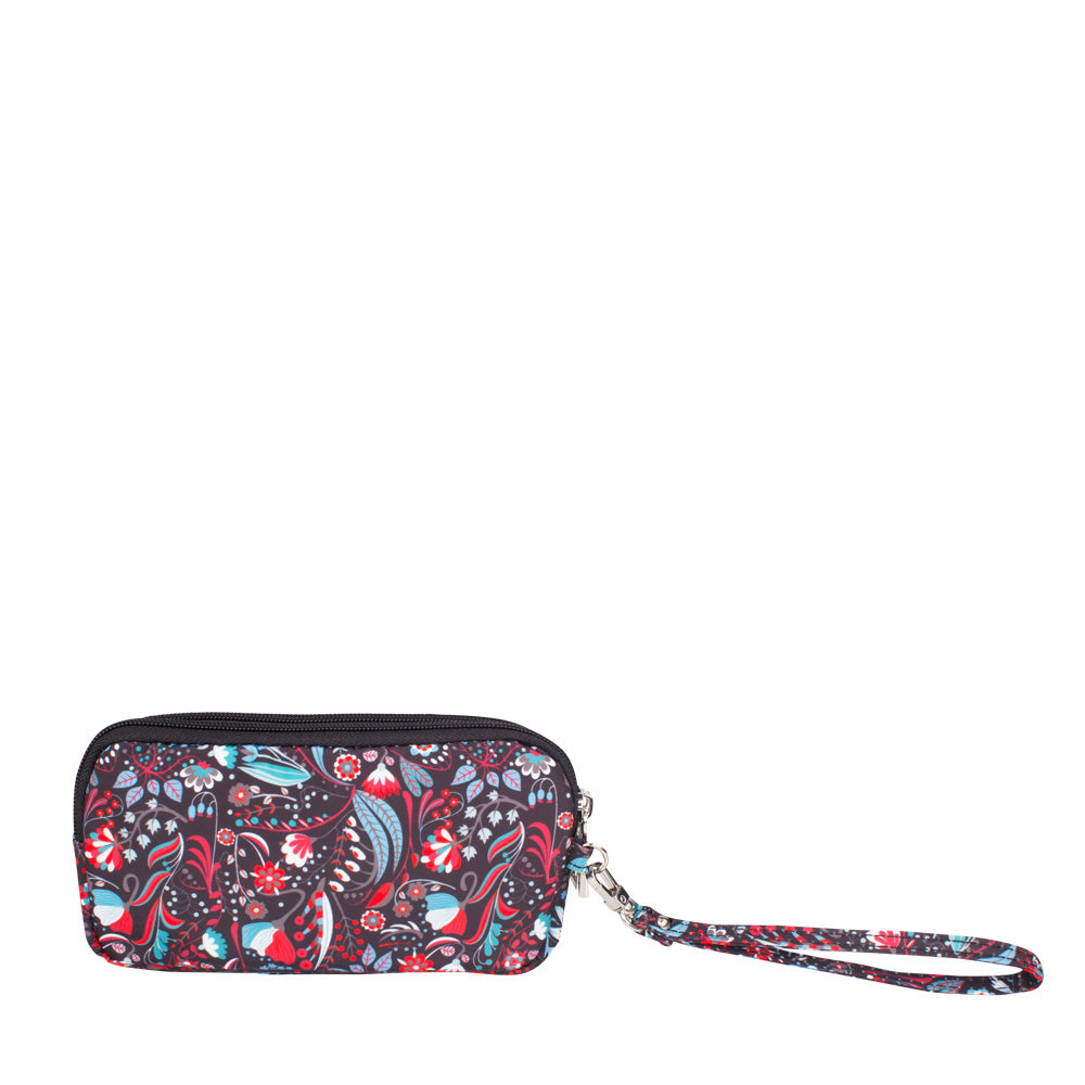 Wristlet - Libby Printed Wristlet Back Black Stylish Abstract