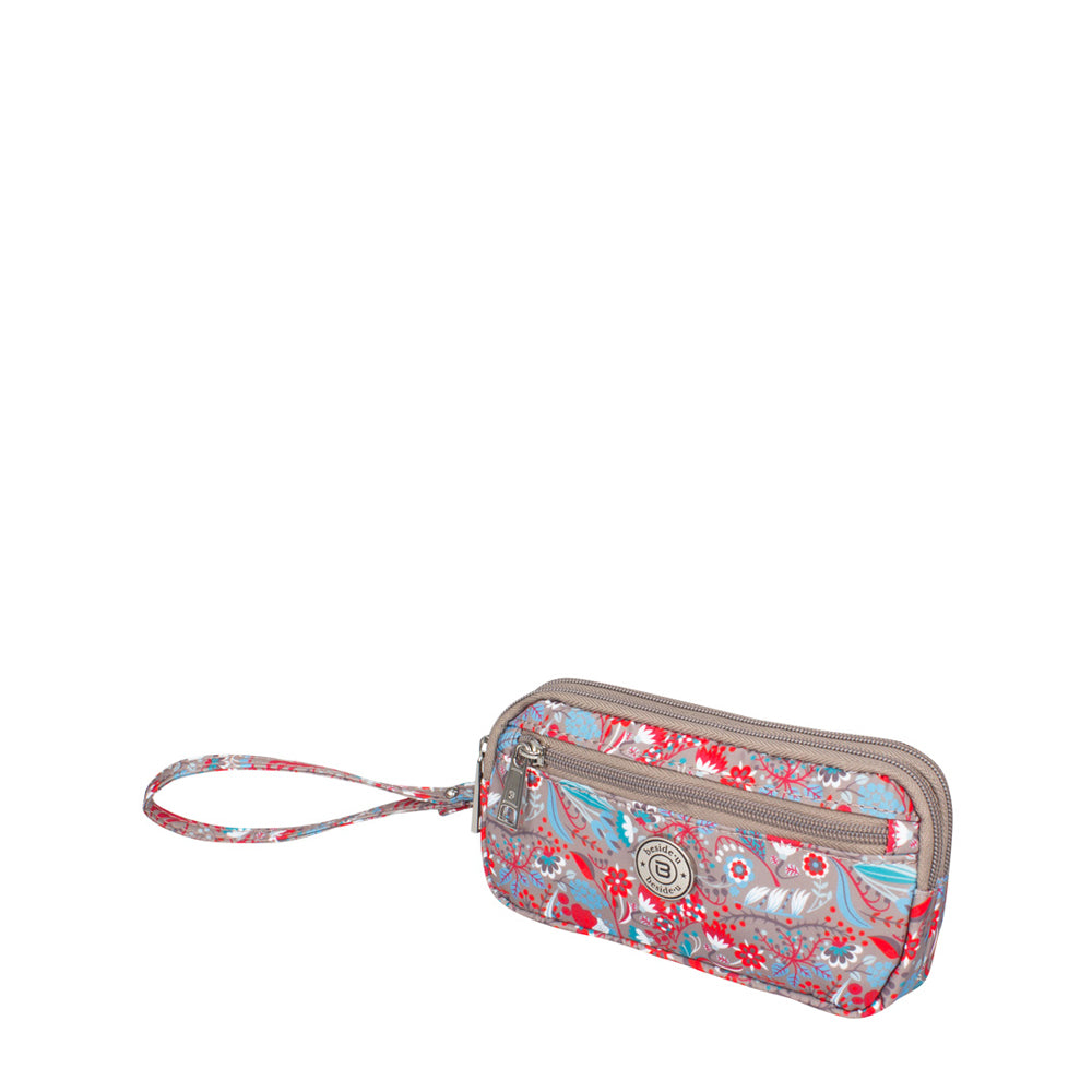 Wristlet - Libby Printed Wristlet Angled [Beige Stylish Abstract]
