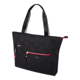 Tote Bag - Clover Two Ways Tote Angled [Black Flower]