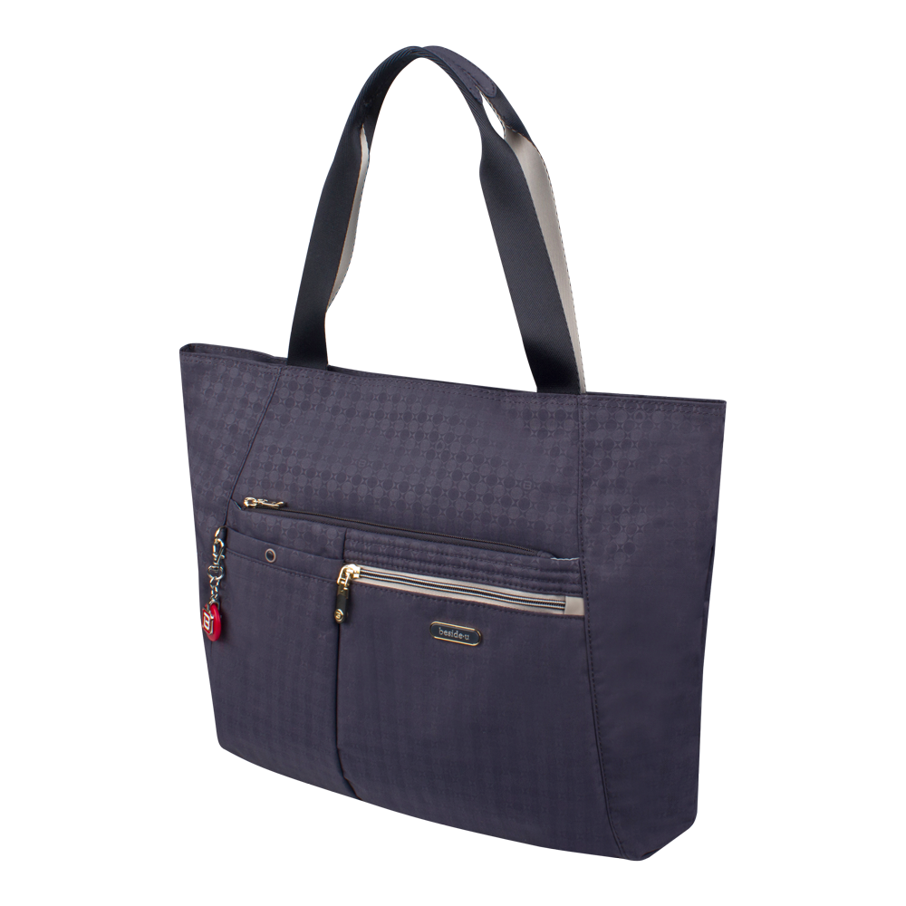 Tote Bag - Clover Two Ways Tote Angled [Night Blue]