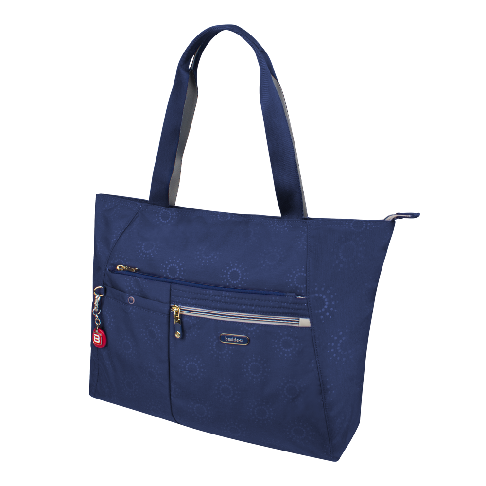 Tote Bag - Clover Two Ways Tote Angled [Comet Blue]