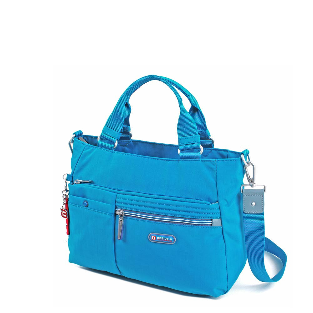 Satchel Handbag - Kenora Two Ways Handbag Angled [Blue Jewel]