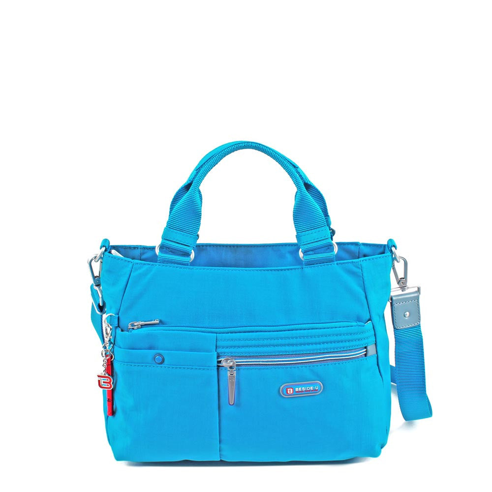 Satchel Handbag - Kenora Two Ways Handbag Front [Blue Jewel]