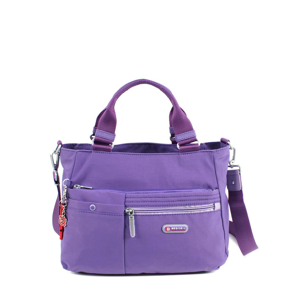 Satchel Handbag - Kenora Two Ways Handbag Front [Purple Opulence]