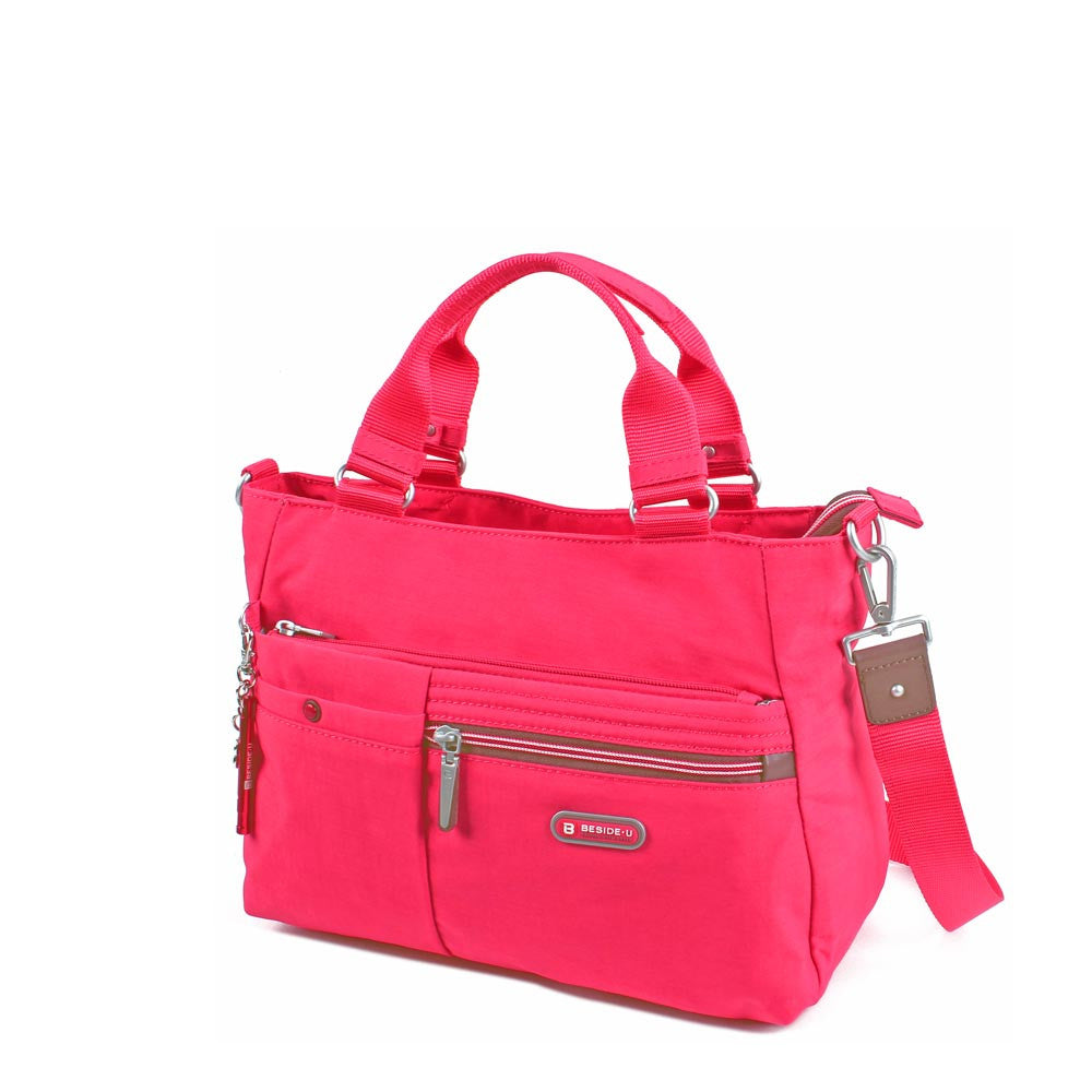 Satchel Handbag - Kenora Two Ways Handbag Angled [Rory Red]