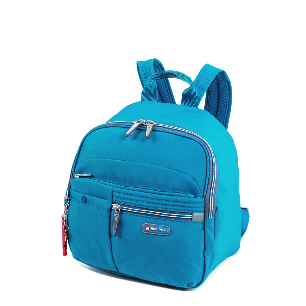 Backpack - Denis Two-Tone Leisure Travel Backpack Angled [Blue Jewel]