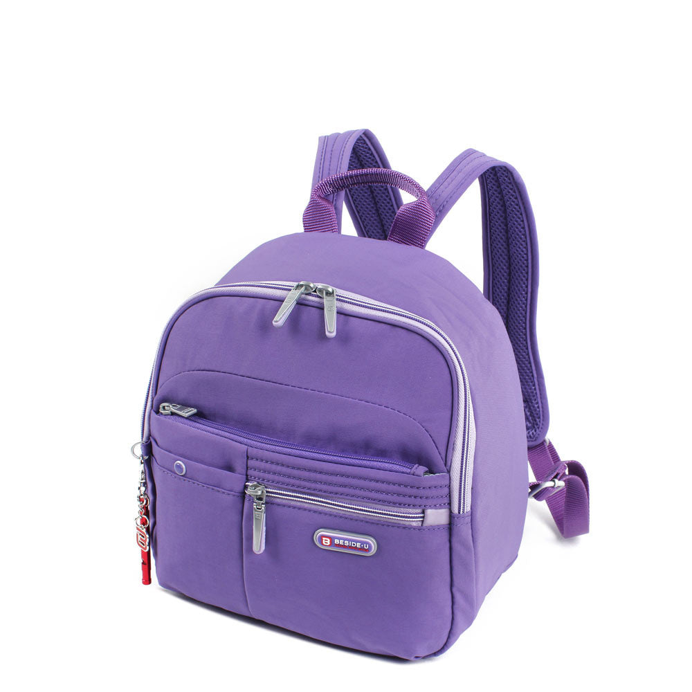 Backpack - Denis Two-Tone Leisure Travel Backpack Angled [Purple Opulence]