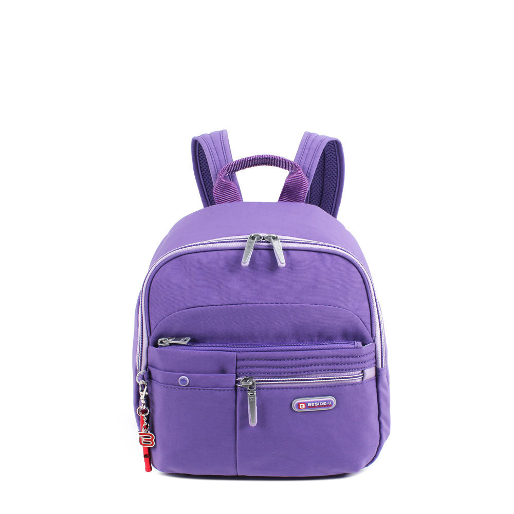 Backpack - Denis Two-Tone Leisure Travel Backpack Front [Purple Opulence]