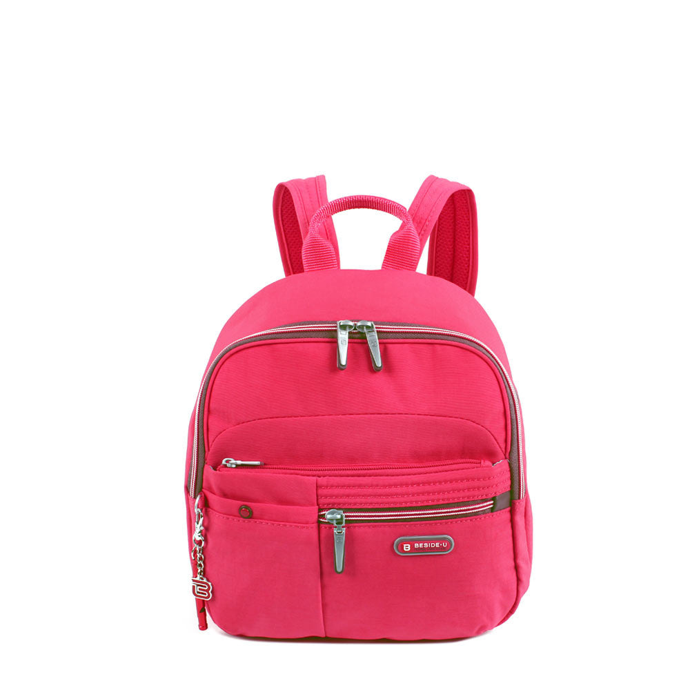 Backpack - Denis Two-Tone Leisure Travel Backpack Front [Rory Red]