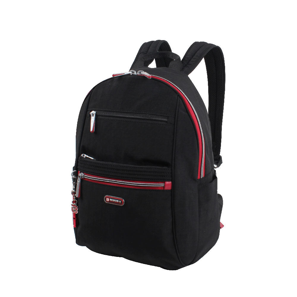 Backpack - Felix Medium Backpack Angled [Black And Dark Red]