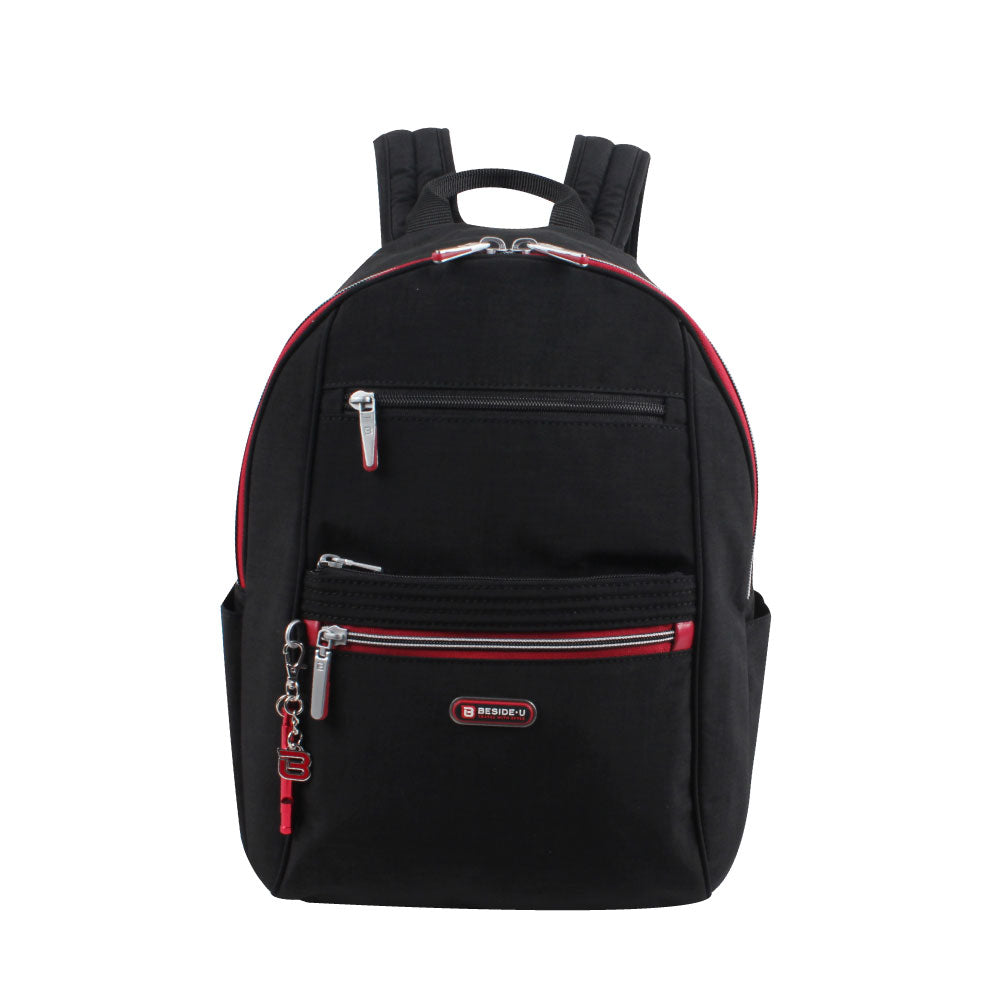 Backpack - Felix Medium Backpack Front [Black And Dark Red]
