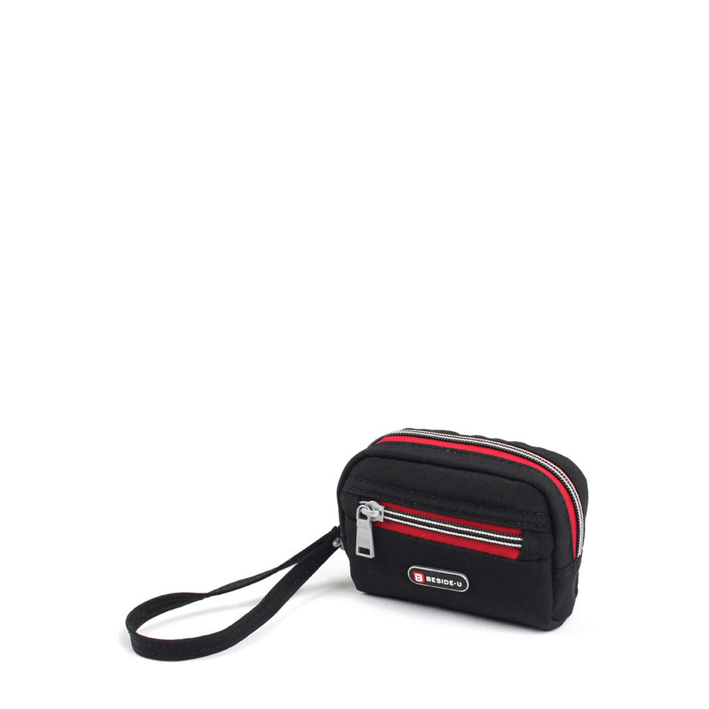 Purse - Mora Two-Tone Small Purse Angled [Black And Dark Red]