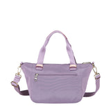 Cyprus Leather Trimmed Mini Convertible Satchel Handbag Grapeade Purple Back [Grapeade Purple]