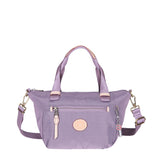 Cyprus Leather Trimmed Mini Convertible Satchel Handbag Grapeade Purple Front [Grapeade Purple]