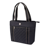 Tote Bag - Eddy Quilted Tote Angled [Black]