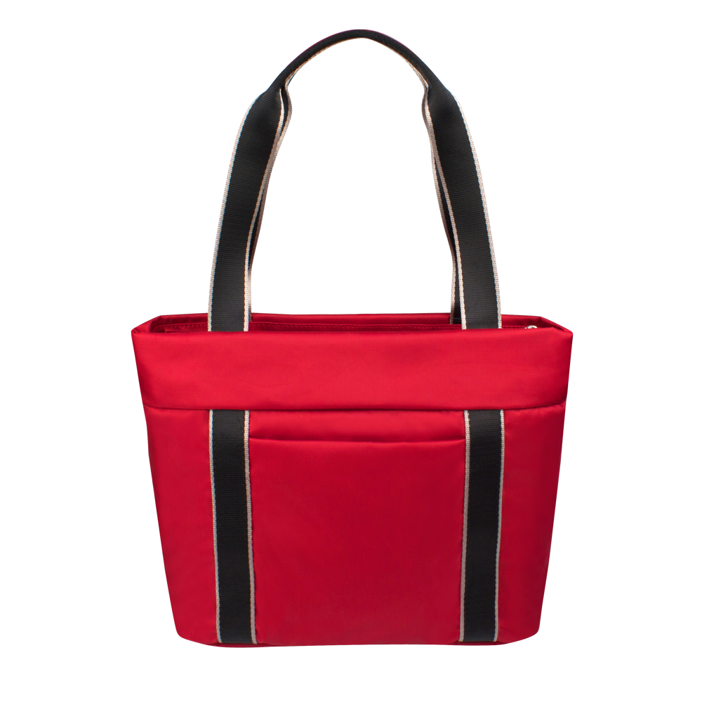 Tote Bag - Eddy Quilted Tote Back Biking Red
