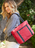 Tote Bag - Eddy Quilted Tote Model Biking Red