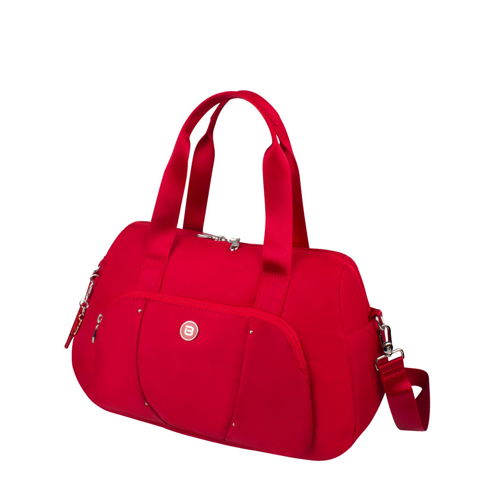 Satchel Handbag - Toluca Duffel Satchel Bag Angled [City Red]