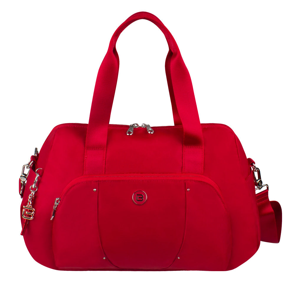 Satchel Handbag - Toluca Duffel Satchel Bag Front City Red