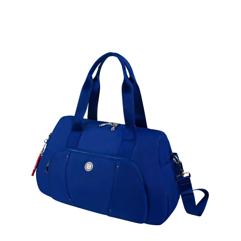 Satchel Handbag - Toluca Duffel Satchel Bag Angled [City Blue]