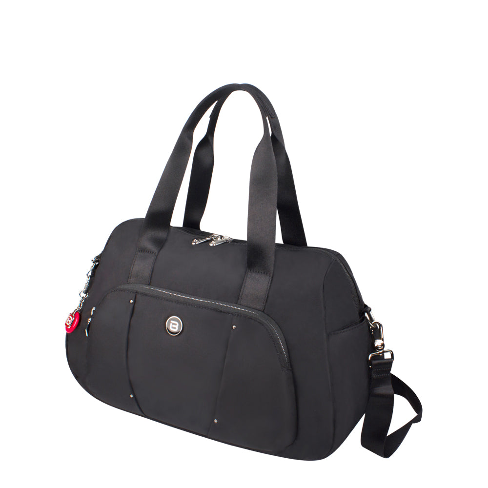 Satchel Handbag - Toluca Duffel Satchel Bag Angled [City Black]